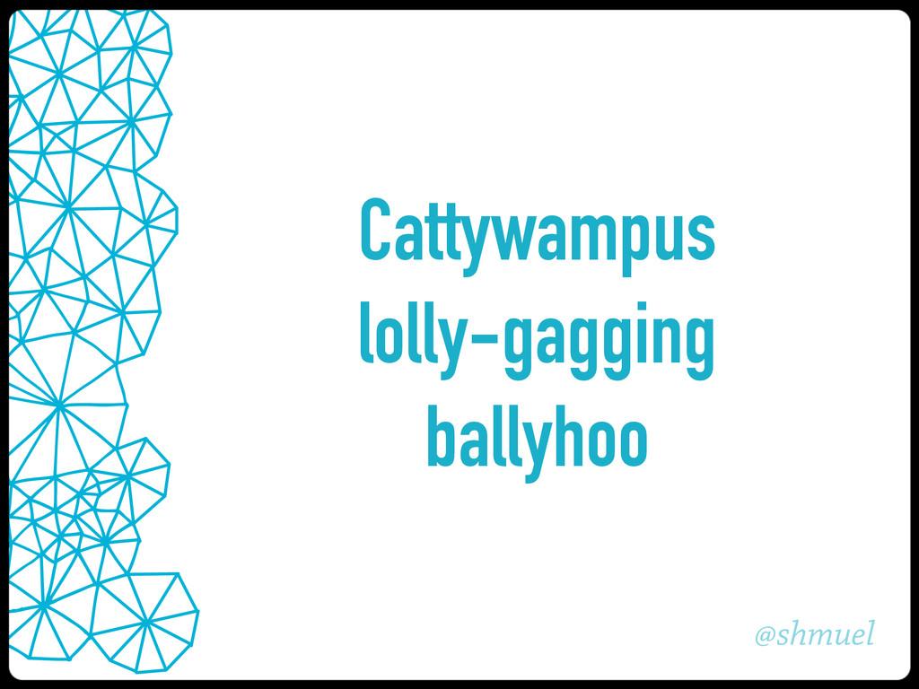 @shmuel Cattywampus lolly-gagging ballyhoo