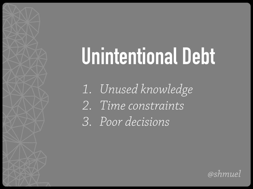 @shmuel 1. Unused knowledge 2. Time constraints...