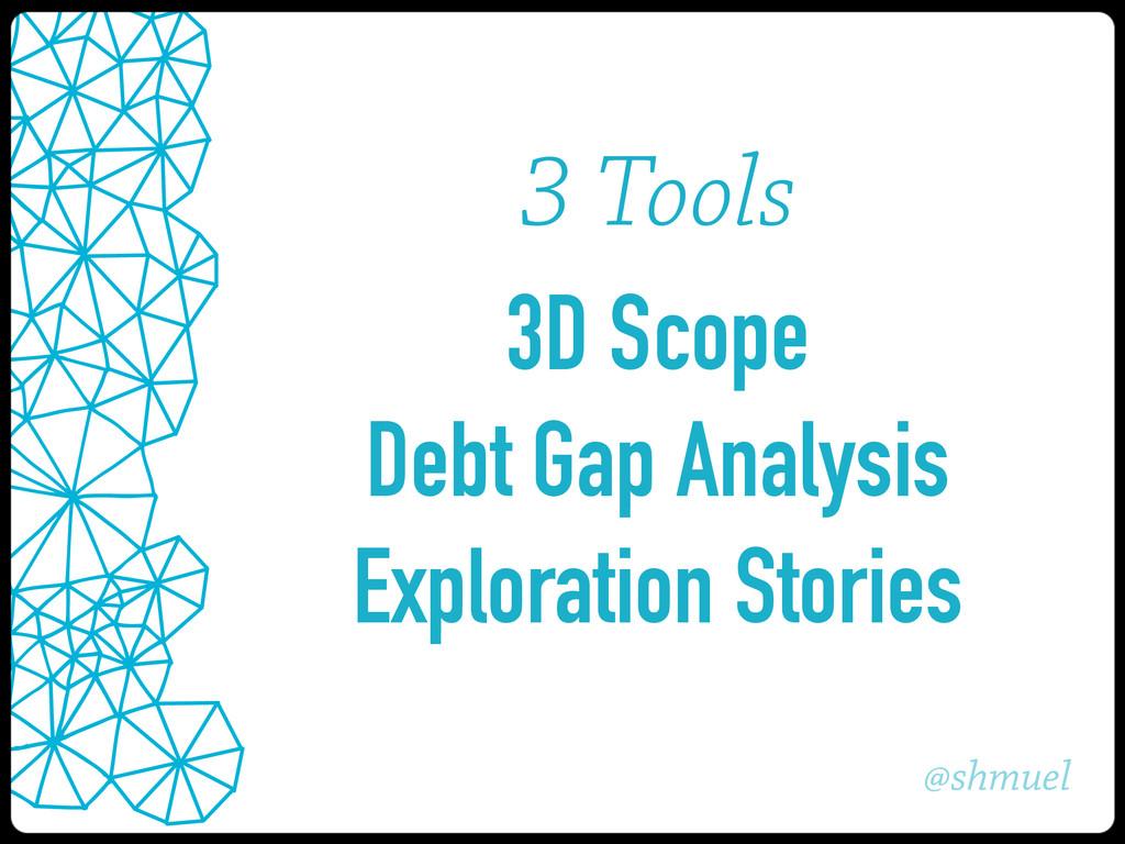 @shmuel 3 Tools 3D Scope Debt Gap Analysis Expl...