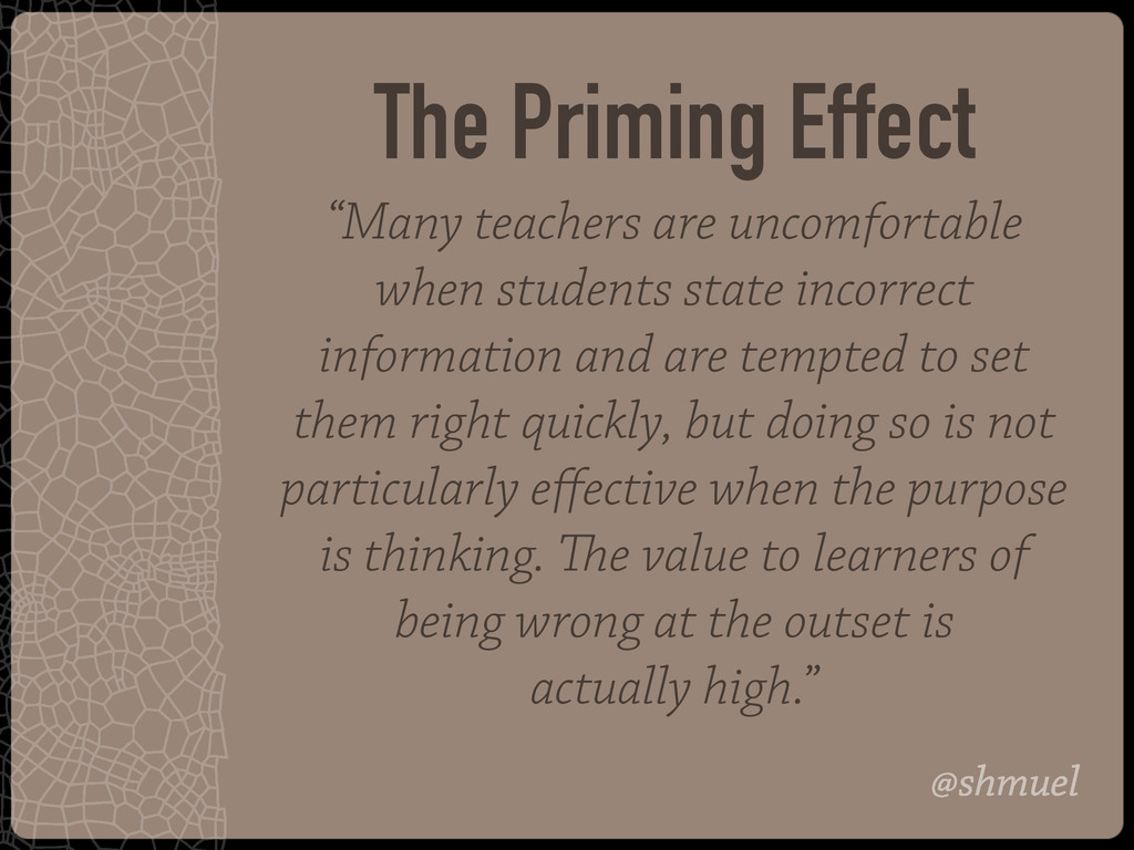 "@shmuel ""Many teachers are uncomfortable when s..."