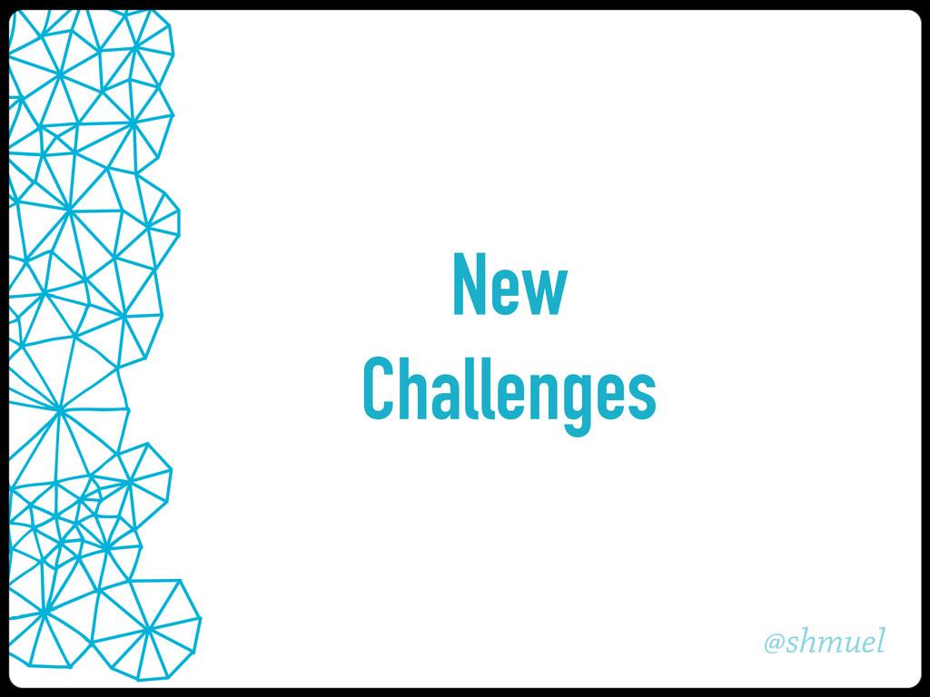 @shmuel New Challenges