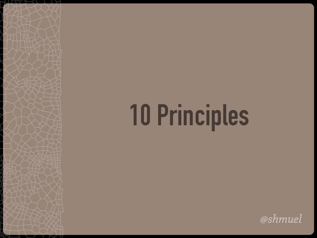@shmuel 10 Principles