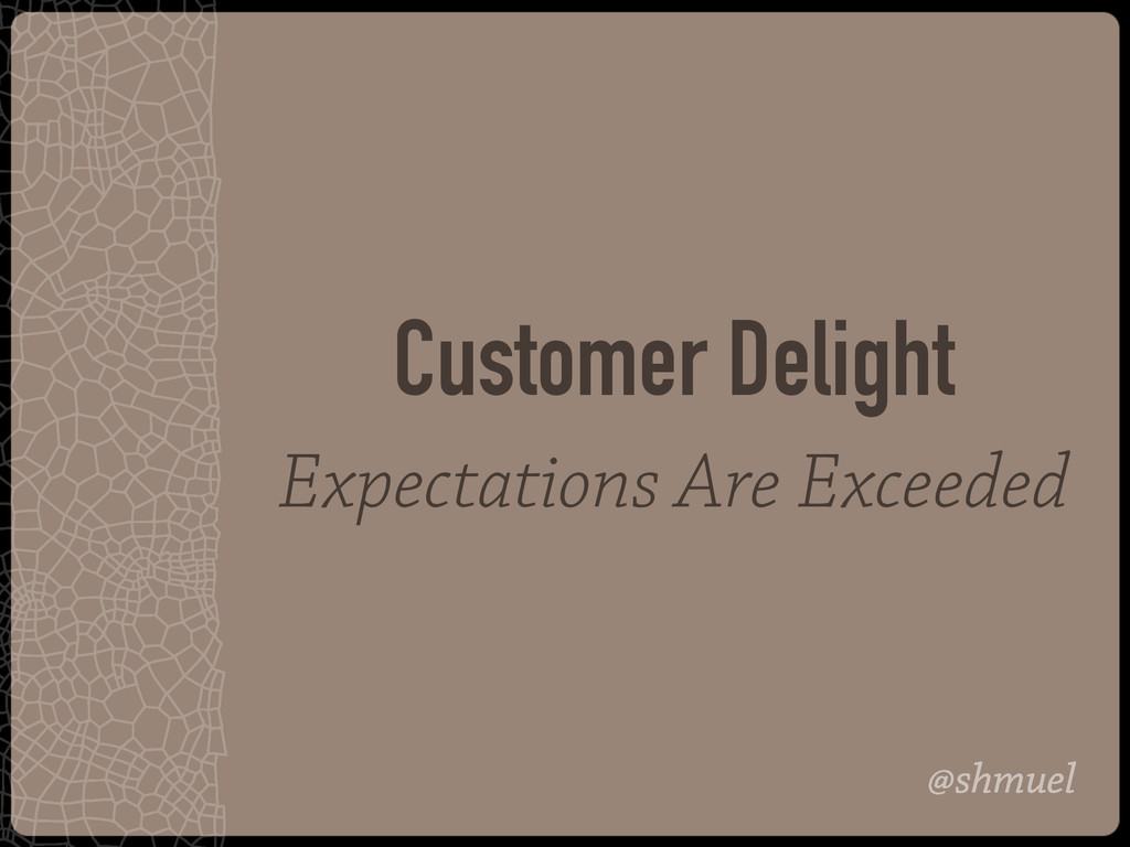 @shmuel Customer Delight Expectations Are Excee...