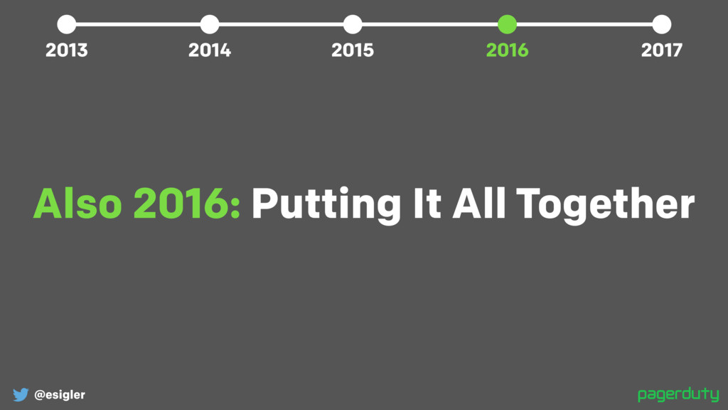 @esigler Also 2016: Putting It All Together 201...