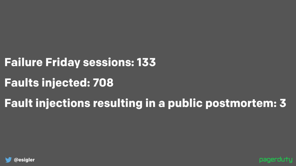 @esigler Failure Friday sessions: 133 Faults in...