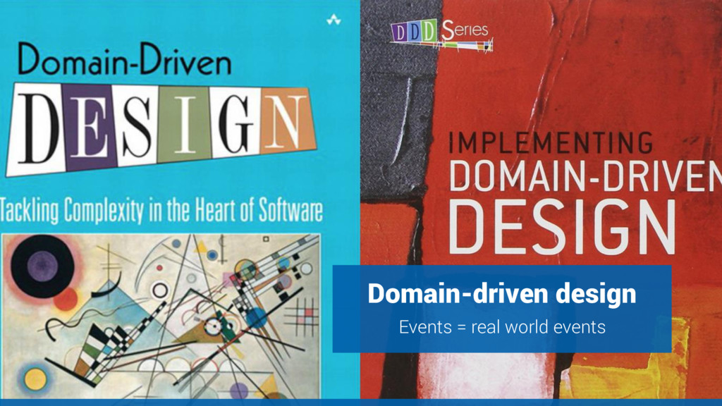 Domain-driven design Events = real world events