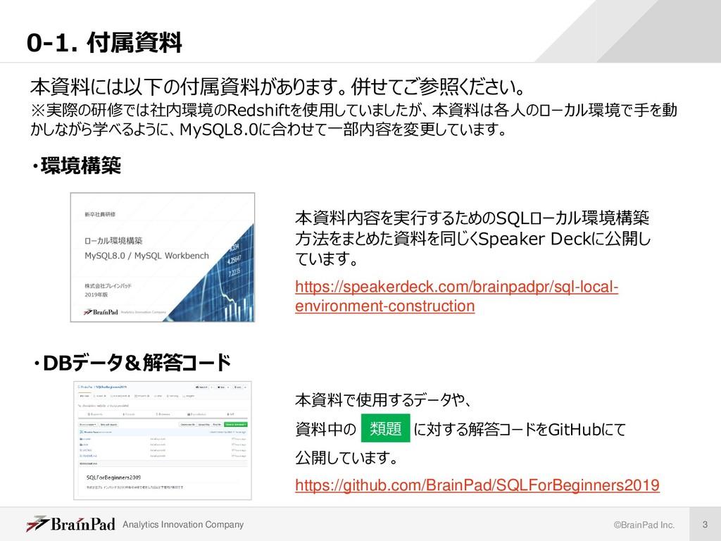 Analytics Innovation Company ©BrainPad Inc. 3 0...
