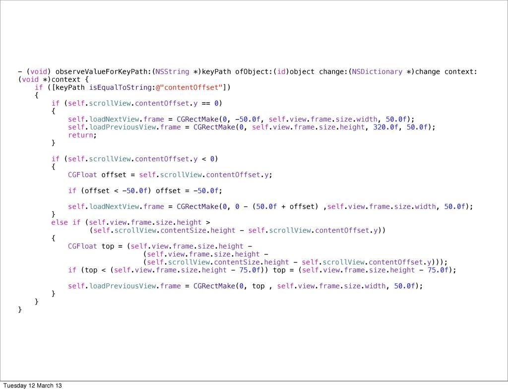 - (void) observeValueForKeyPath:(NSString *)key...