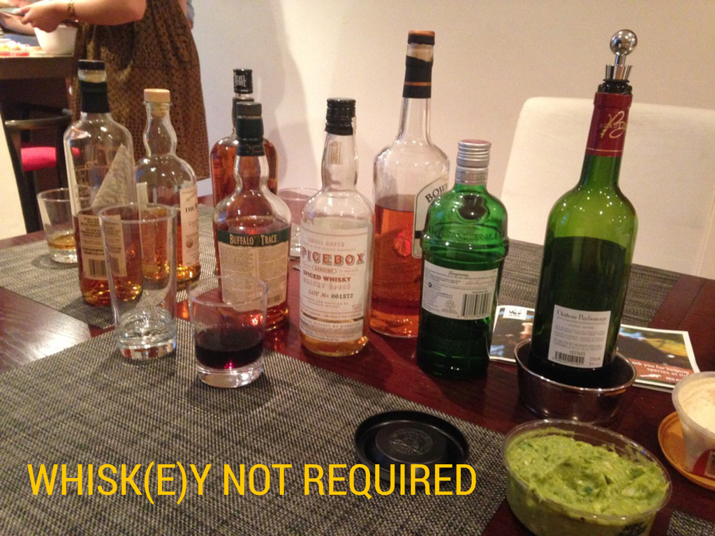 WHISK(E)Y NOT REQUIRED