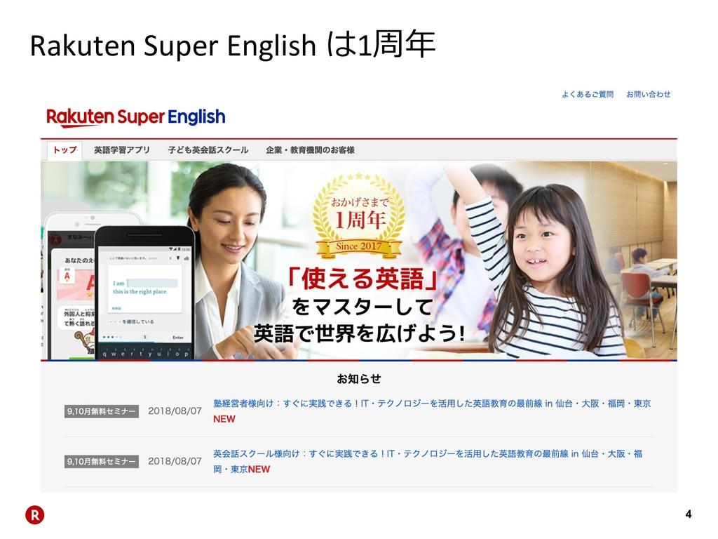 4 Rakuten Super English 1