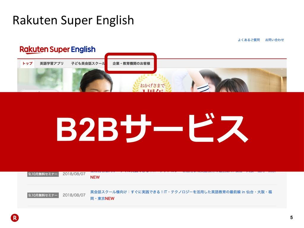 5 Rakuten Super English B2B