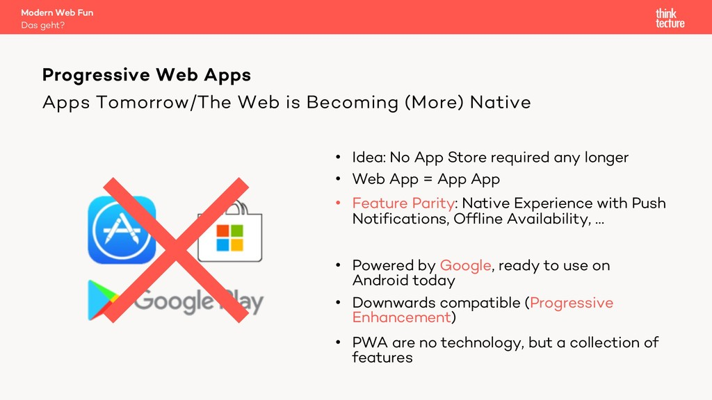 Apps Tomorrow/The Web is Becoming (More) Native...