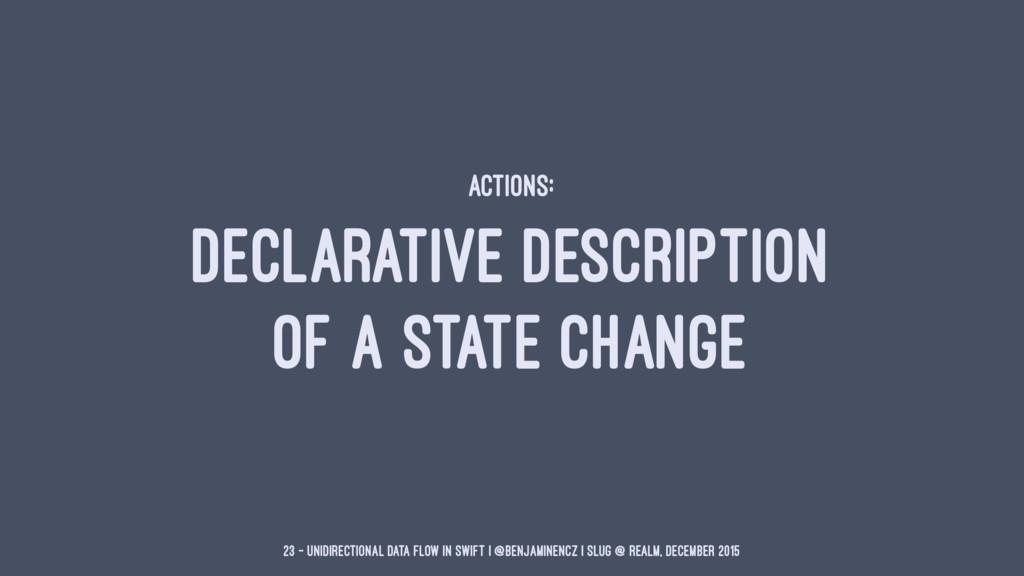 ACTIONS: DECLARATIVE DESCRIPTION OF A STATE CHA...