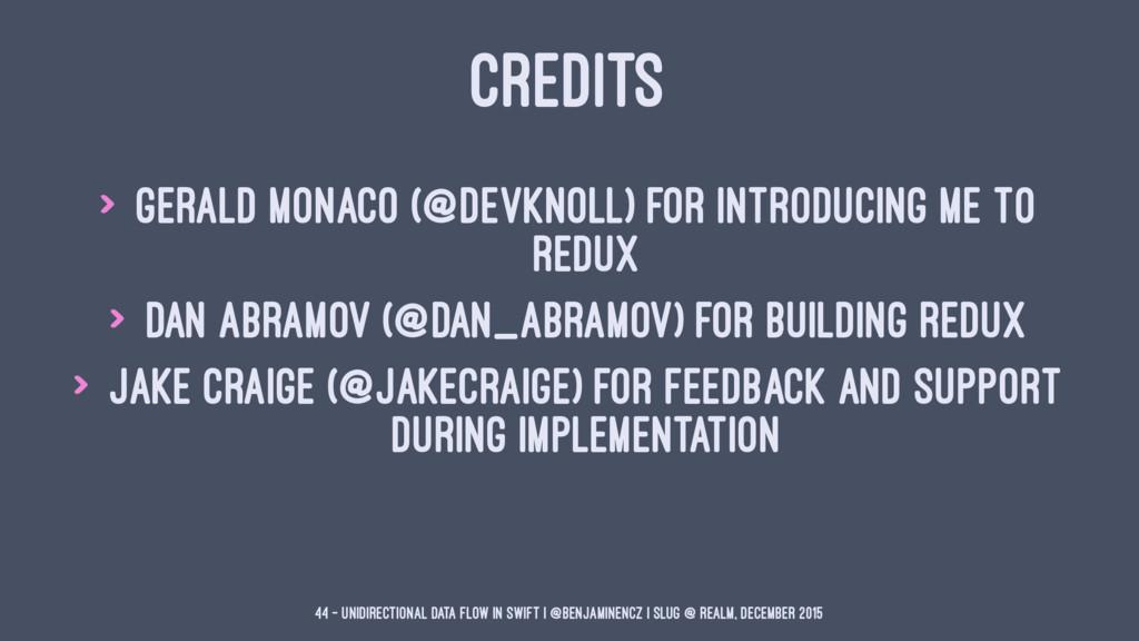 CREDITS > Gerald Monaco (@devknoll) for introdu...