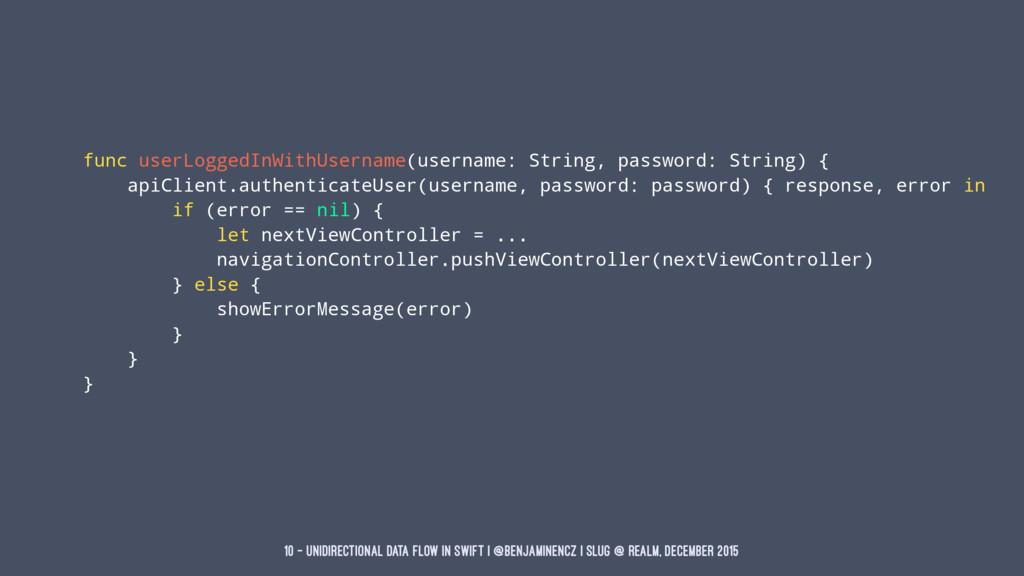 func userLoggedInWithUsername(username: String,...