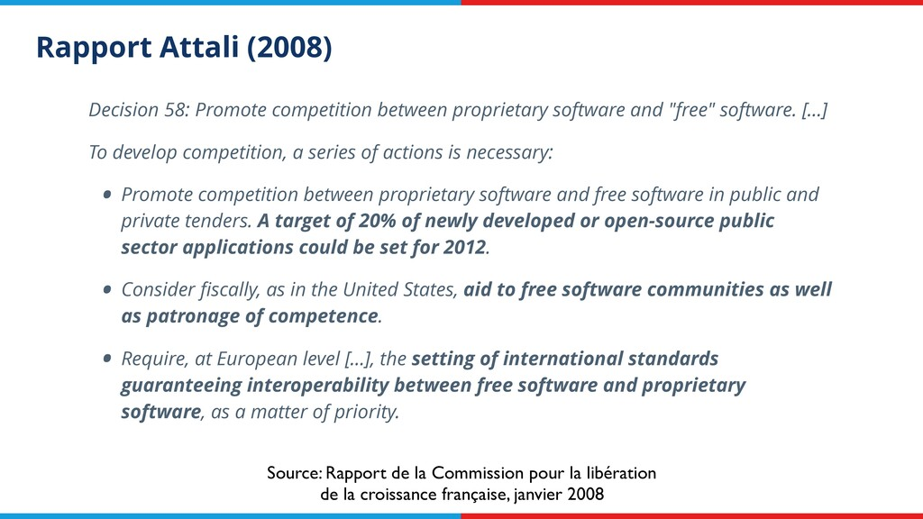 Rapport Attali (2008) Decision 58: Promote comp...