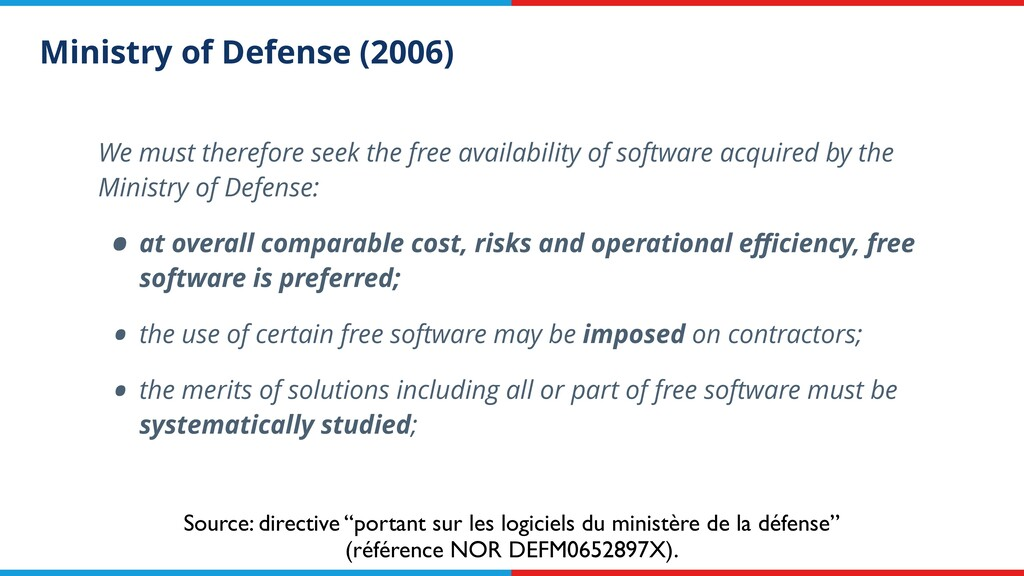 Ministry of Defense (2006) We must therefore se...
