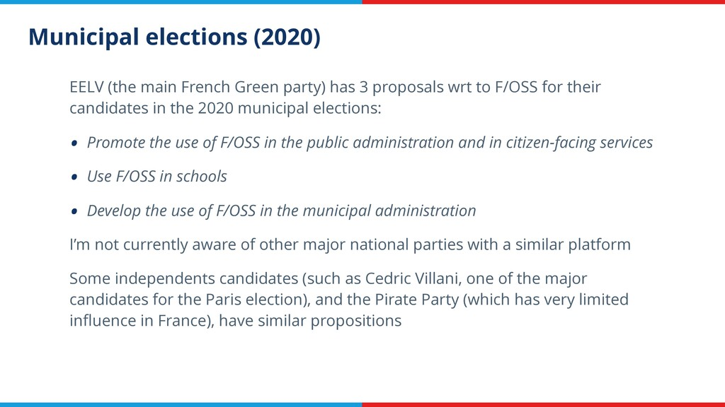 Municipal elections (2020) EELV (the main Frenc...