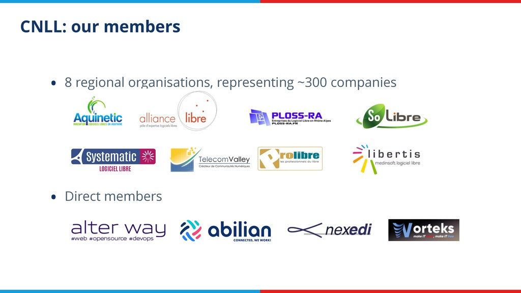 CNLL: our members • 8 regional organisations, r...