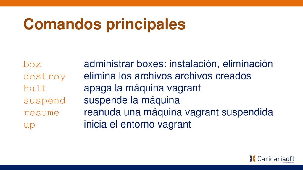 box administrar boxes: instalación, eliminación...