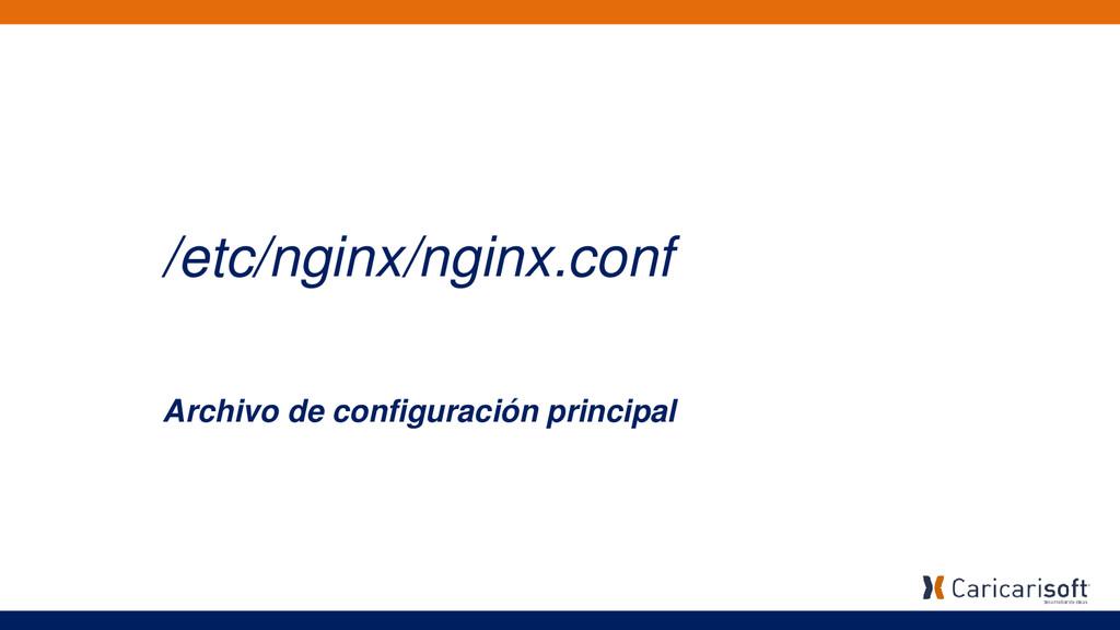/etc/nginx/nginx.conf Archivo de configuración ...