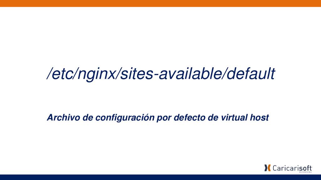 /etc/nginx/sites-available/default Archivo de c...