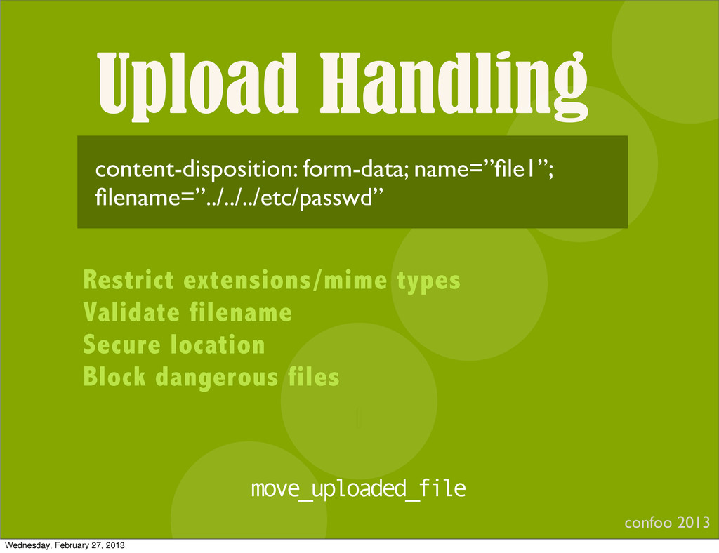 Upload Handling confoo 2013 I content-dispositi...