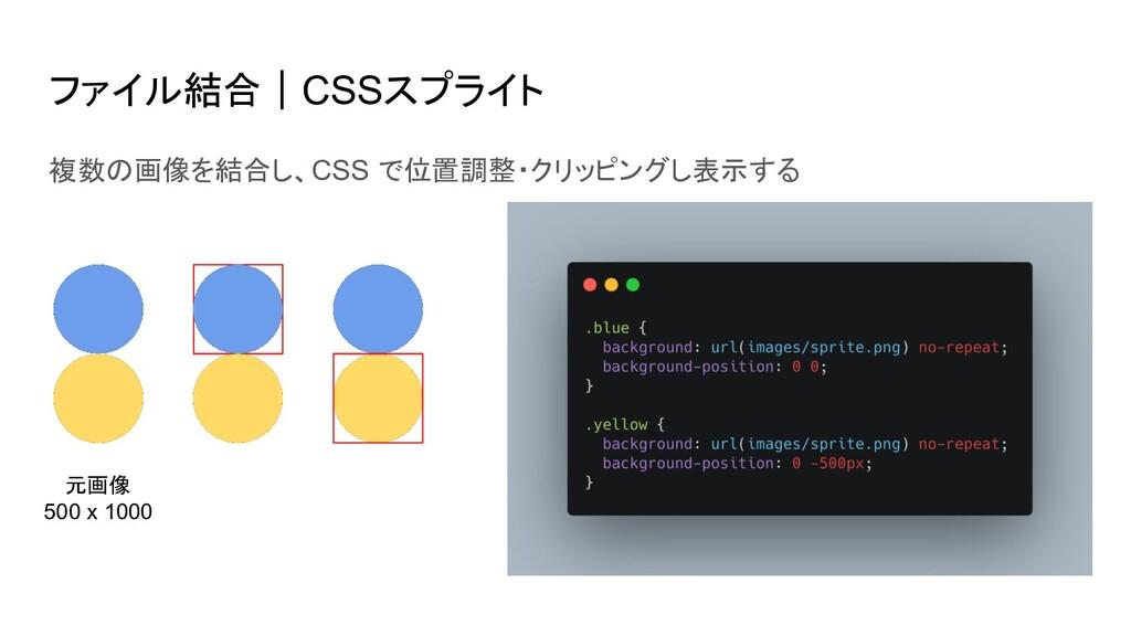 ファイル結合|CSSスプライト 複数の画像を結合し、CSS で位置調整・クリッピングし表示する...