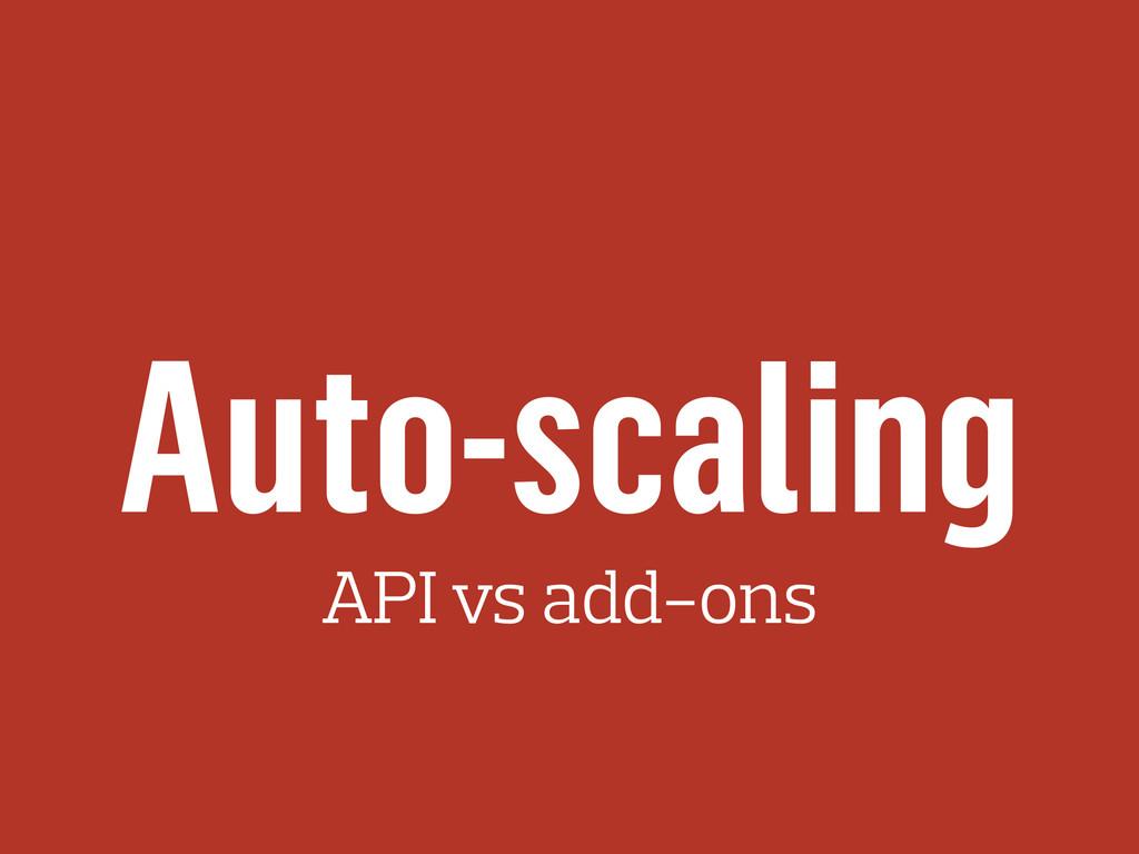 Auto-scaling API vs add-ons