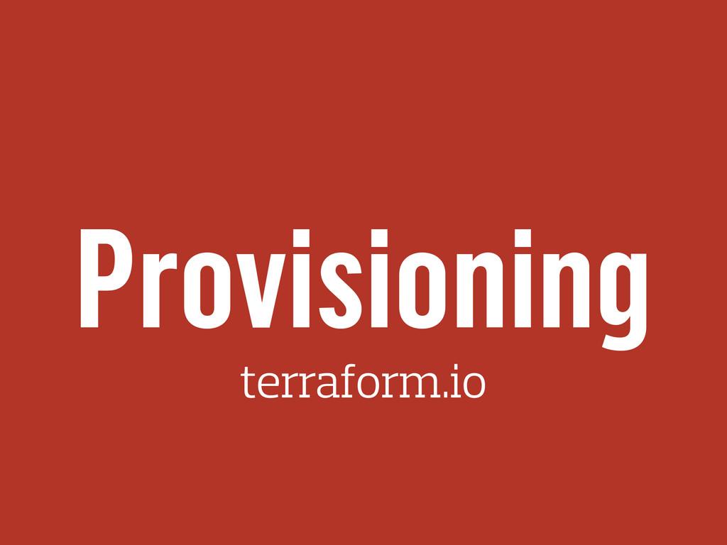 Provisioning terraform.io