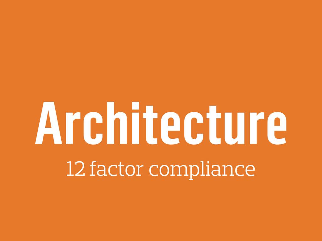 Architecture 12 factor compliance