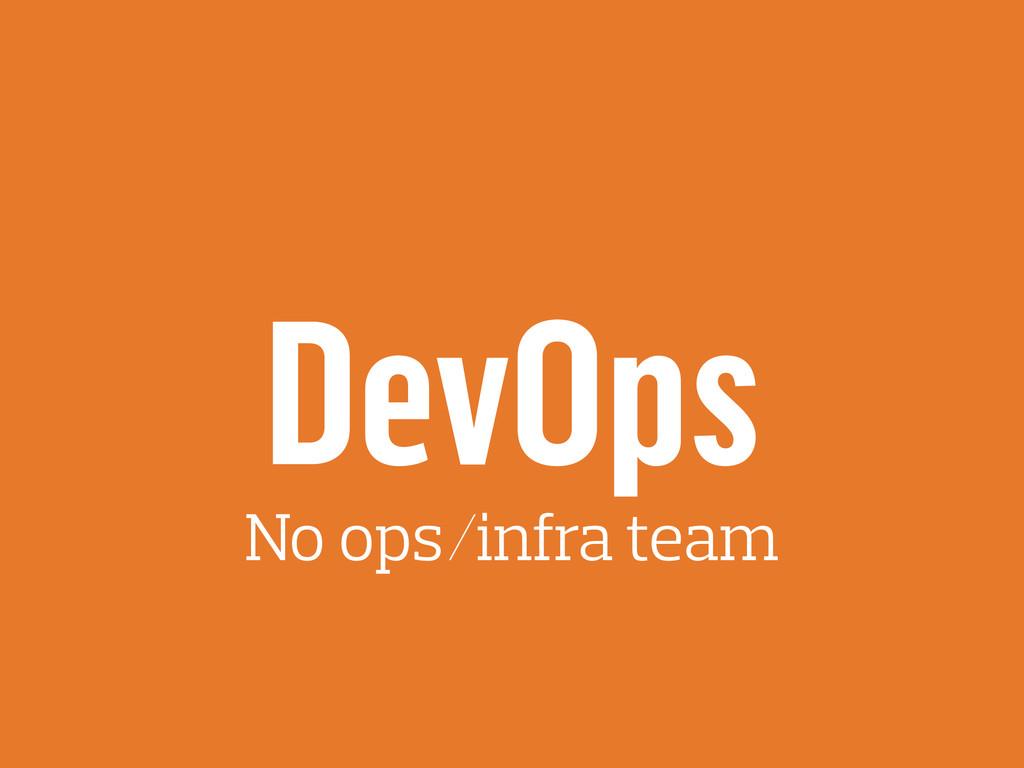 DevOps No ops/infra team