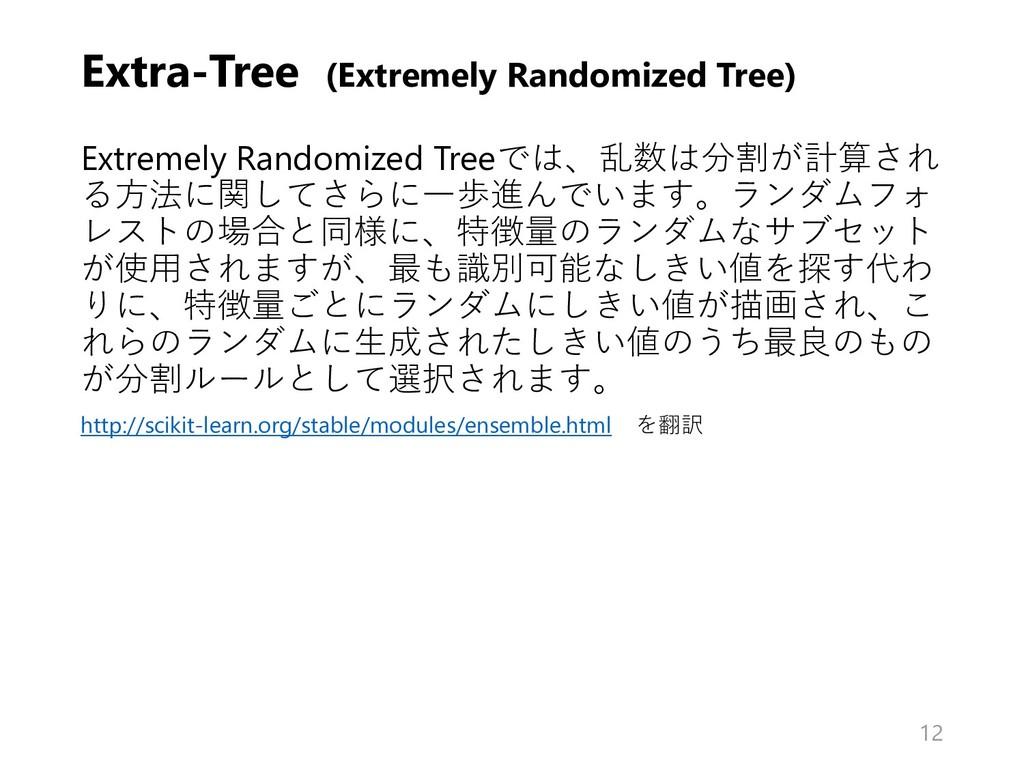 Extra-Tree (Extremely Randomized Tree) Extremel...