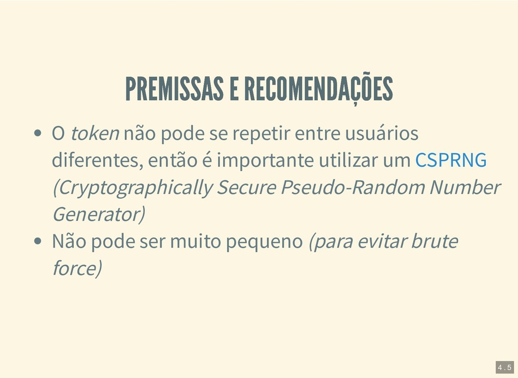 PREMISSAS E RECOMENDAÇÕES PREMISSAS E RECOMENDA...