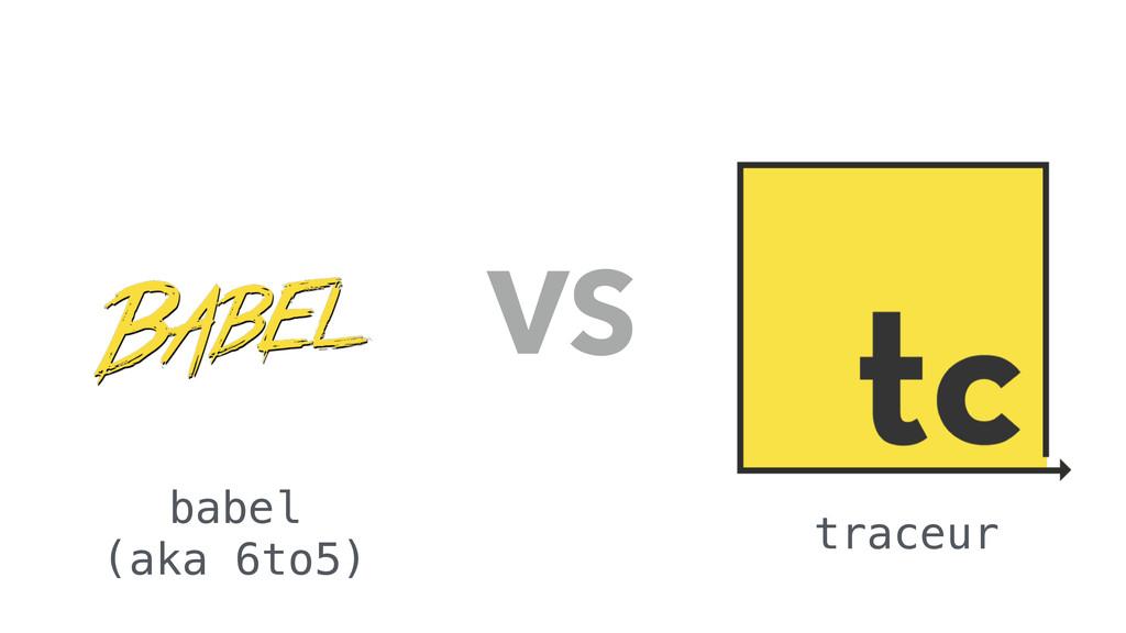 VS babel (aka 6to5) traceur