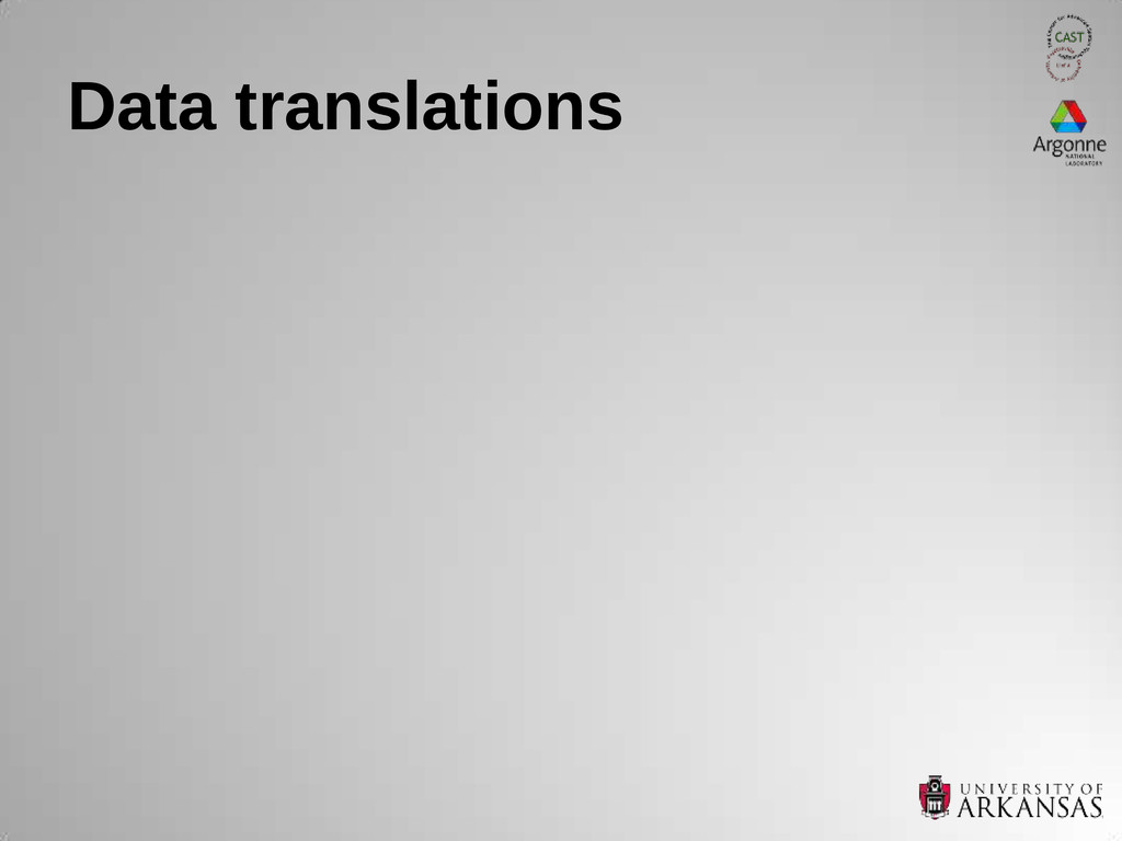 Data translations