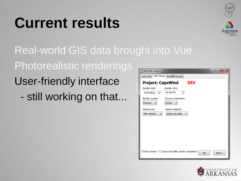 Current results Real-world GIS data brought int...