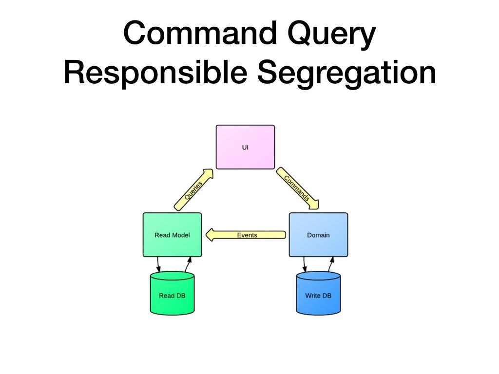Command Query Responsible Segregation