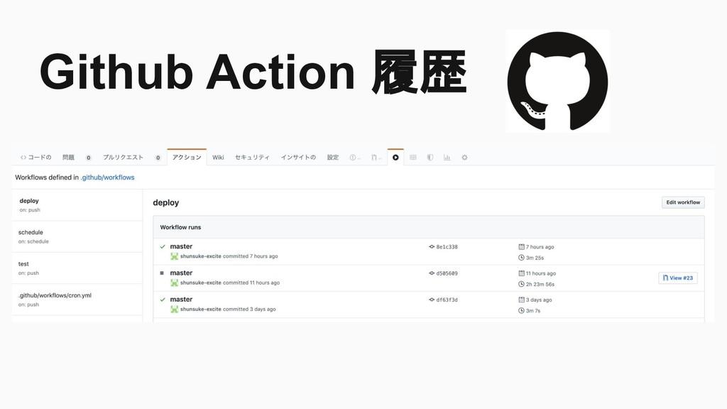 Github Action 履歴