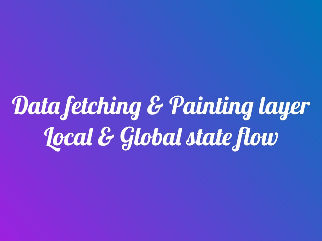 Data fetching & Painting layer Local & Global s...