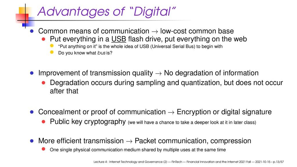 """Advantages of """"Digital"""" Common means of communi..."""