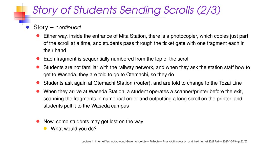 Story of Students Sending Scrolls (2/3) Story –...