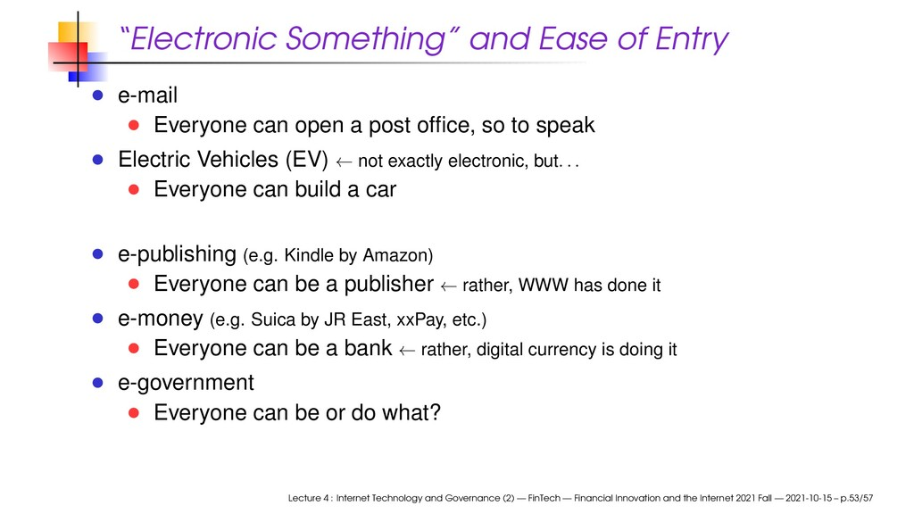 """""""Electronic Something"""" and Ease of Entry e-mail..."""