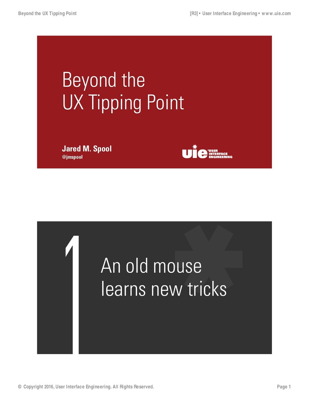 @jmspool Jared M. Spool Beyond the UX Tipping P...
