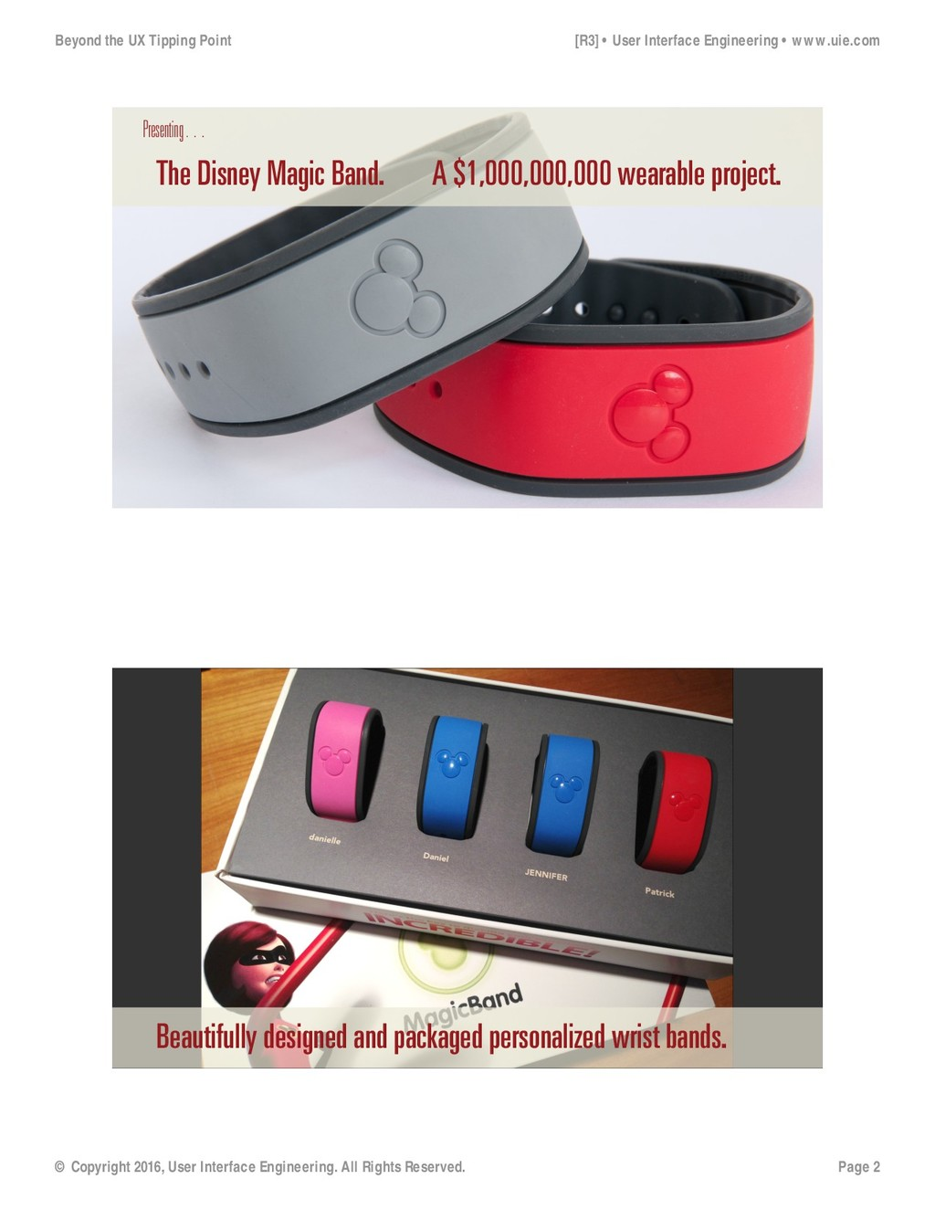 Presenting… The Disney Magic Band. A $1,000,000...
