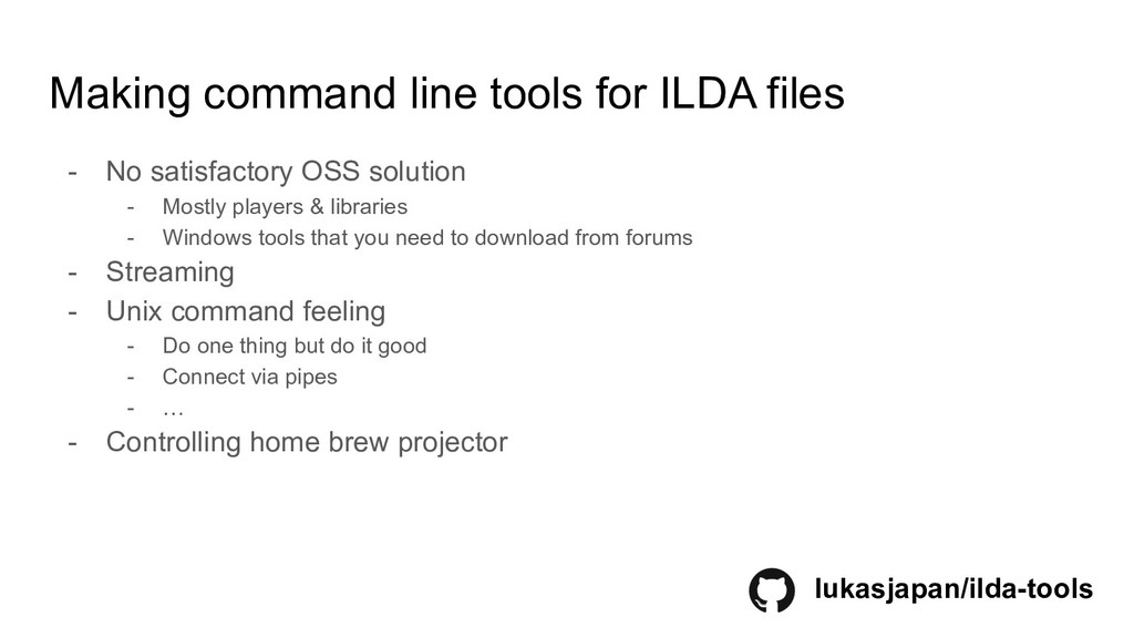 Making command line tools for ILDA files - No s...