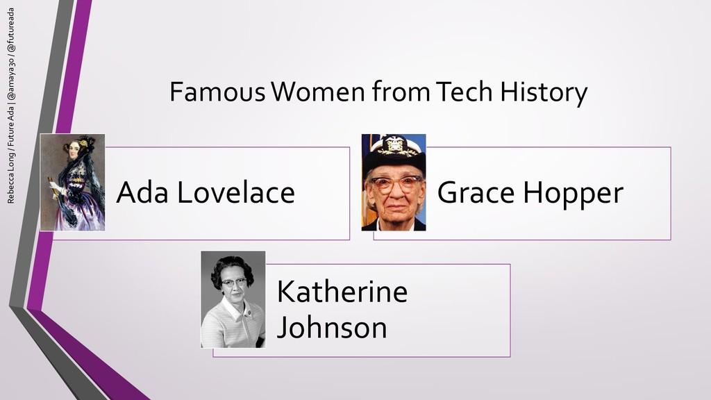 Famous Women from Tech History Ada Lovelace Gra...