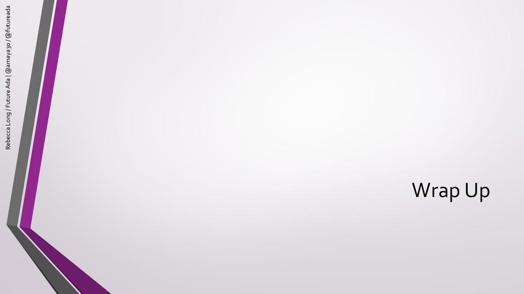 Wrap Up Rebecca Long / Future Ada | @amaya30 / ...