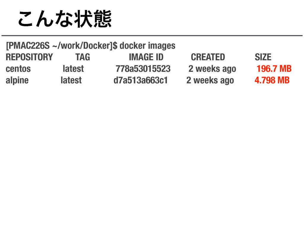 ͜Μͳঢ়ଶ [PMAC226S ~/work/Docker]$ docker images R...