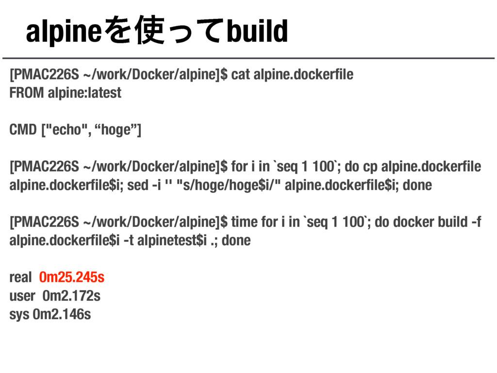 alpineΛͬͯbuild [PMAC226S ~/work/Docker/alpine]...